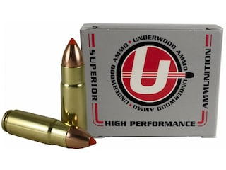 Underwood Ammunition 458 SOCOM 300 Grain Nosler Ballistic Tip Spitzer Box of 20
