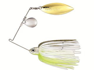 Terminator Pro Series Tandem Spinnerbait 3/8oz Hot Olive Nickel/Gold