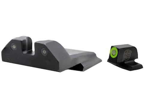 XS R3D Night Sight Set S&W M&P, M&P M2.0 Full Size, Compact 3-Dot Tritium Ember Glow Fr...