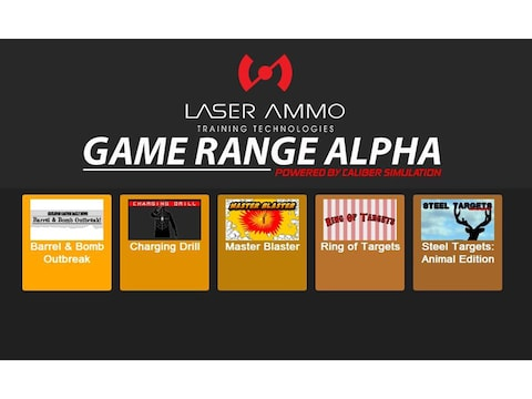 Laser Ammo Game Range Alpha Laser Trainer Shooting Simulator Add-on Software