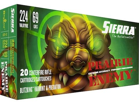 Sierra Prairie Enemy Ammunition 224 Valkyrie 69 Grain BlitzKing Polymer Tip Box of 20