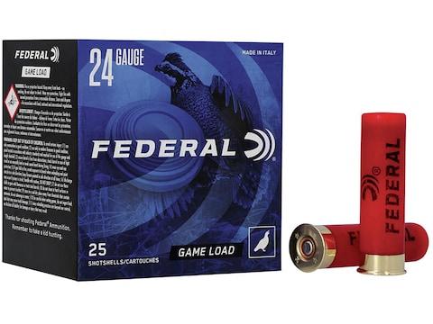 "Federal Game-Shok Heavy Field Load Ammunition 24 Gauge 2-1/2"" 11/16 oz #8 Shot Box of 25"
