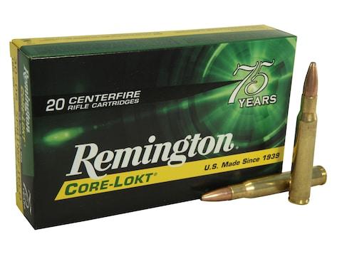 Remington Core-Lokt Ammunition 30-06 Springfield 165 Grain Core-Lokt Pointed Soft Point...