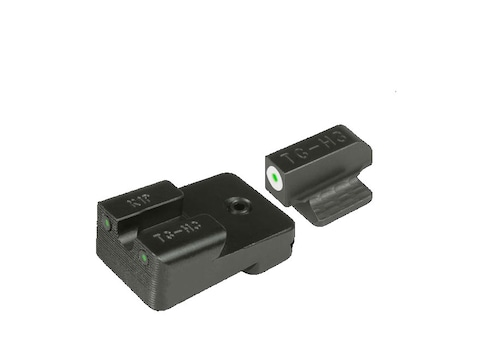 TRUGLO Tritium Pro Sight Set 1911 Kimber Front and Rear Sight Cuts Tritium Green with W...