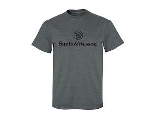 Smith & Wesson Men's Logo Short Sleeve Shirt Cotton/Poly Blend Charcoal Heather Medium