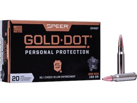 Speer Gold Dot Ammunition 308 Winchester 150 Grain Gold Dot Bonded Soft Point Box of 20