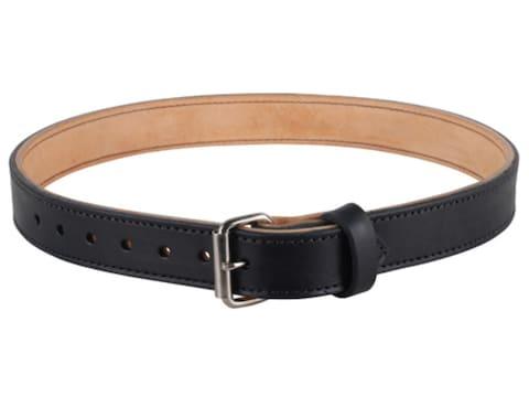 "Lenwood Leather Double Layer Belt 1.5"" Steel Buckle Leather"