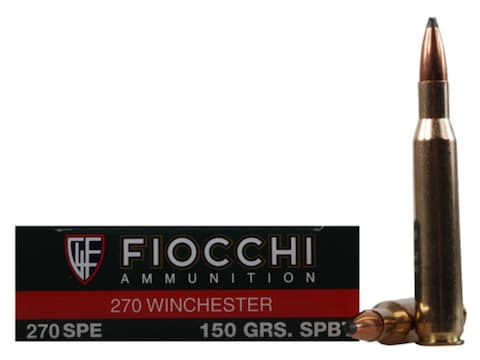 Fiocchi Shooting Dynamics Ammunition 270 Winchester 150 Grain Pointed Soft Point Box of 20