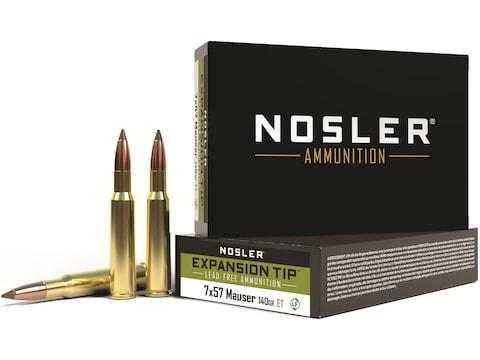 Nosler E-Tip Ammunition 7x57mm Mauser (7mm Mauser) 140 Grain E-Tip Lead-Free Box of 20