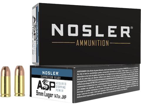 Nosler Match Grade Ammunition 9mm Luger 147 Grain Jacketed Hollow Point