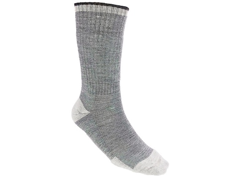 MidwayUSA All Season Merino Wool Blend Boot Socks 2 Pairs Carbon Gray Large (9-13)