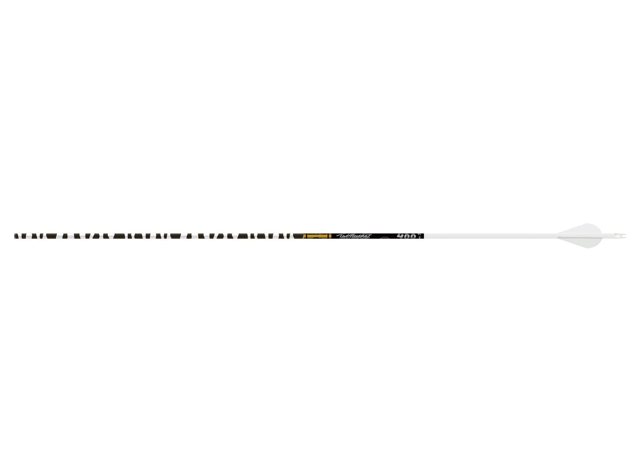 "Gold Tip Arrows Ted Nugent 400 500 1//2 Dozen Purple Zebra 2/"" Vanes"