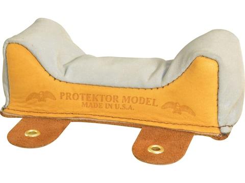 Protektor Super Slick Silver Wide Owl Ear Front Shooting Rest Bag Leather Tan Filled