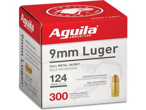 Aguila Ammunition 9mm Luger 124 Grain Full Metal Jacket