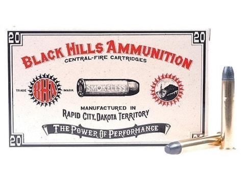 Black Hills Cowboy Action Ammunition 38-55 WCF 255 Grain Lead Flat Nose Box of 20