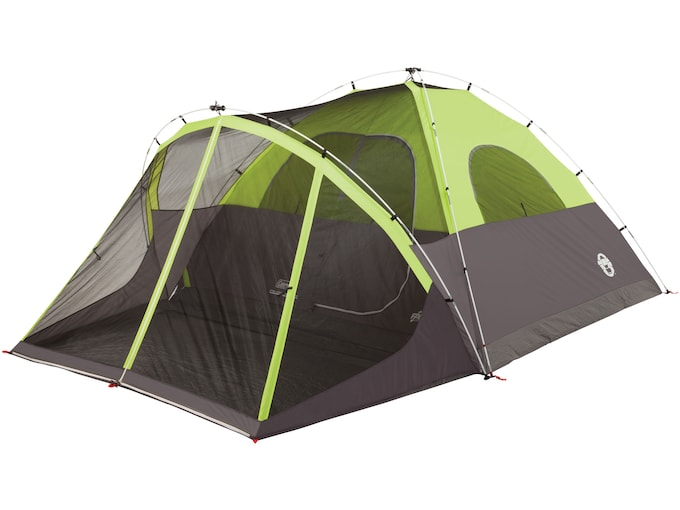"""Coleman Steel Creek Fast Pitch 6 Man Dome Tent 120""""x168""""x68"""" Polyester Black and Green"""