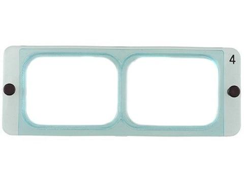 "Donegan Optical OptiVISOR Magnifying Headband Visor Replacement Lens Plate 2X at 10"""