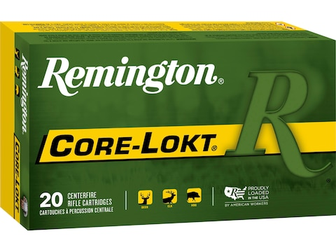 Remington Core-Lokt Ammunition 30-06 Springfield 220 Grain Core-Lokt Soft Point Box of 20