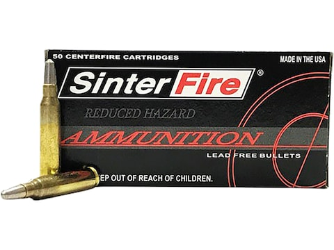 SinterFire Reduced Hazard Ammunition 223 Remington 55 Grain Frangible Round Nose Lead Free