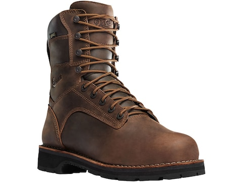 """Danner Workman 8"""" GORE-TEX Aluminum Safety Toe Work Boots Leather Brown Men's"""