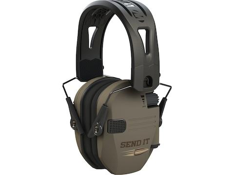 Walker's Razor Slim Send It Electronic Earmuffs with Rubber Headband (NRR 23dB)