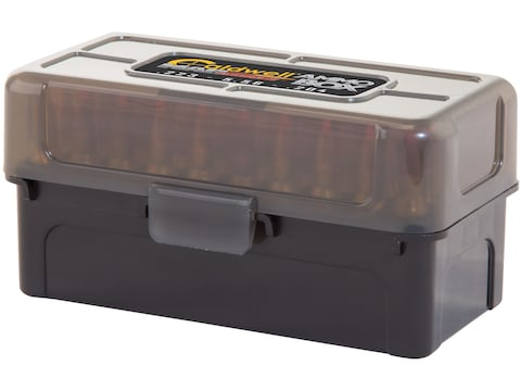 Caldwell AR Mag Charger Flip-Top Ammo Box 204 Ruger, 223 Remington 50-Round Plastic Bla...