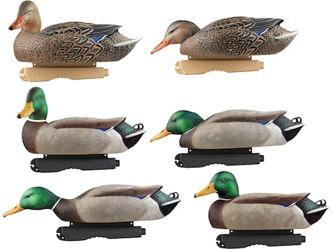 GHG Foam Filled Pro-Grade Harvester Mallard Duck Decoy Pack of 6