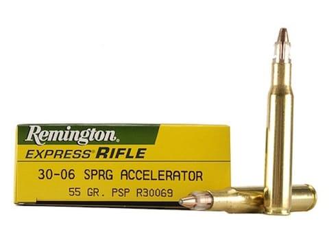 Remington Express Ammunition 30-06 Springfield Accelerator 55 Grain Pointed Soft Point ...
