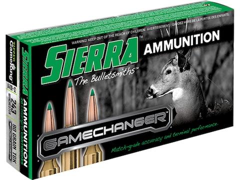 Sierra GameChanger Ammunition 243 Winchester 90 Grain Tipped GameKing Box of 20