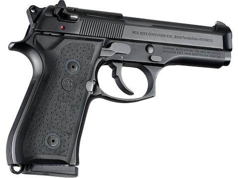 Hogue Rubber Grip Panels Beretta 92, 96 Black
