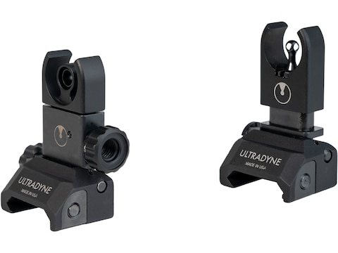 Ultradyne C4 Flip-Up Front and Rear Sight Set AR-15 Aluminum Black