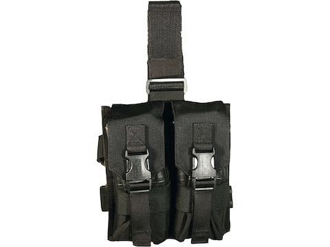 BLACKHAWK! Omega Elite Enhanced Magazine Drop Leg Pouch AR-15 Holds 4 Magazine Nylon Black