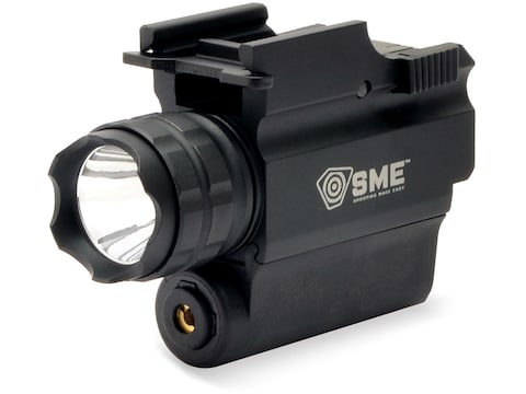 SME Compact Tactical Handgun Weapon Light LED with Laser with 1 CR123 Battery Aluminum ...