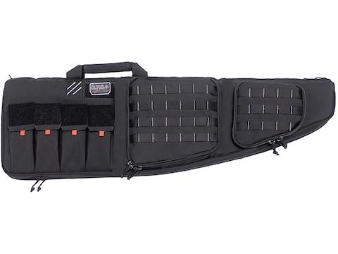 "G.P.S. Tactical Double AR Rifle Case 43"" with External Pistol Case Black"