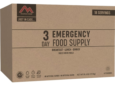Mountain House Just in Case 3-Day Emergency Kit Freeze Dried Food 18 Serving
