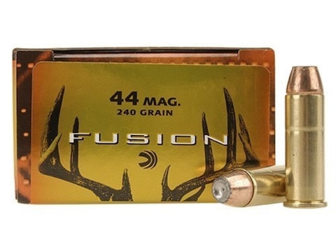 Federal Fusion Ammunition 44 Remington Magnum 240 Grain Bonded Jacketed Hollow Point Bo...