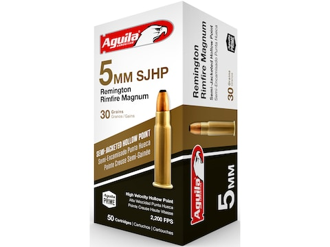 Aguila Ammunition 5mm Remington Magnum 30 Grain Semi-Jacketed Hollow Point