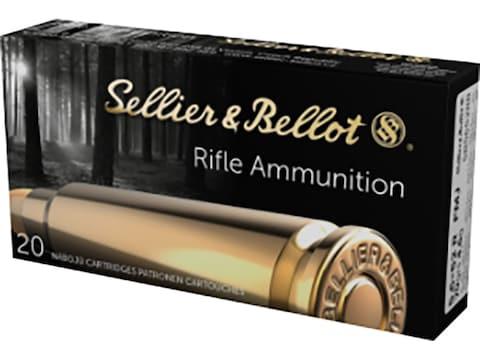 Sellier & Bellot Ammunition 5.6x52mm Rimmed (22 Savage High-Power) 70 Grain Full Metal ...