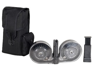 Beta C-Mag Magazine System HK MP5 9mm Luger 100-Round Drum Polymer Black with Clear Back Cover