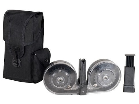 Beta C-Mag Magazine System HK MP5 9mm Luger 100-Round Drum Polymer Black with Clear Bac...