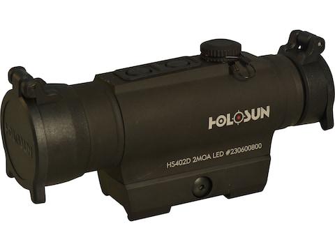 Holosun HS402D Red Dot Sight 1x 30mm 2 MOA Dot Weaver-Style Mount Matte