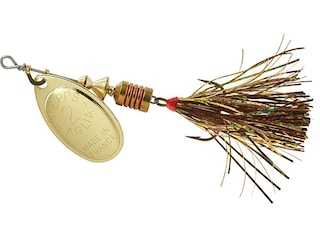 Mepps Aglia Flashabou Inline Spinner Gold-Brown/Gold 1/6 oz