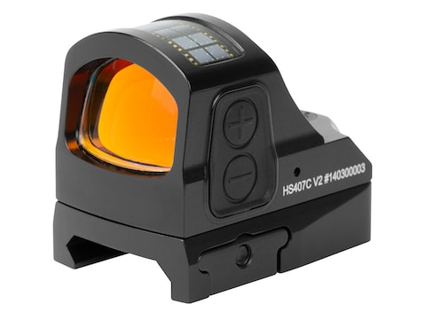 Holosun HS407C-V2 Reflex Sight 1x 2 MOA Red Dot Picatinny-Style Mount Solar/Battery Pow...