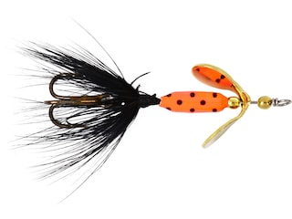 Worden's Rooster Tail 202 Inline Spinner 1/32oz Flame Dalmation Bronze