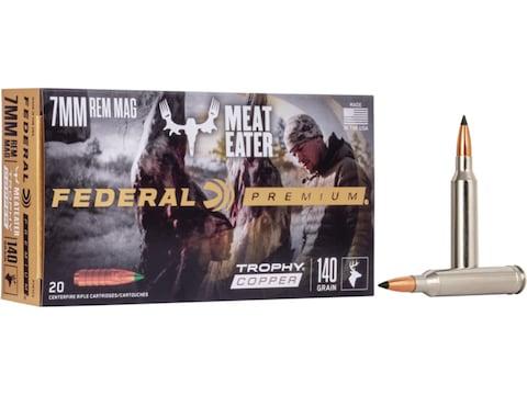 Federal Premium Ammunition 7mm Remington Magnum 140 Grain Trophy Copper Tipped Boat Tai...