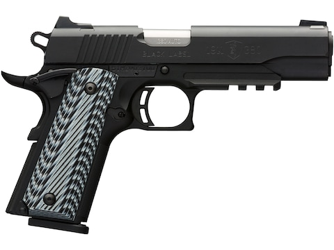 Browning 1911-380 Black Label Pro Pistol 380 ACP with Rail 8-Round Black with G10 Grips