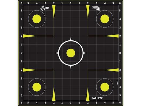 "Allen EZ-Aim Non-Adhesive Splash 12"" Sight-In Grid Target Pack of 12"