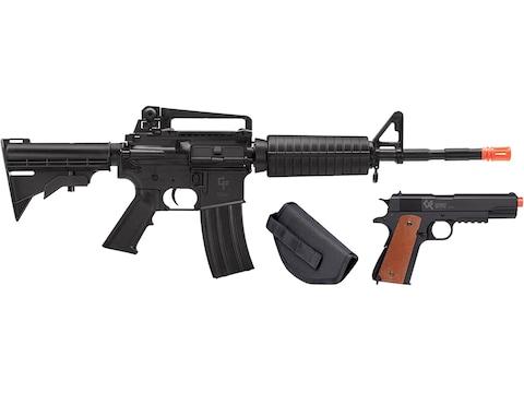 Game Face Defender Strike Airsoft Rifle & Pistol Kit