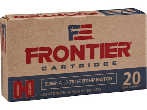 Frontier Cartridge Military Grade Ammunition 5.56x45mm NATO 75 Grain Hornady Hollow Poi...