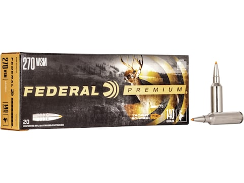 Federal Factory Second Ammunition 270 Winchester Short Magnum (WSM) 140 Grain Trophy Bo...